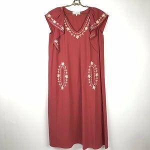 The Great Saffron Vineyard Dress Red White